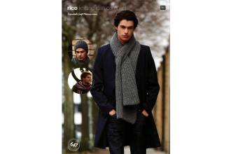 Rico Knitting Idea Compact 647 (Leaflet) Essentials Soft Merino Brioche Scarf, Hat and Stripey Scarf (Aran)