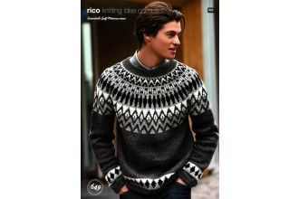 Rico Knitting Idea Compact 649 (Leaflet) Essentials Soft Merino Fairisle Sweater (Aran)