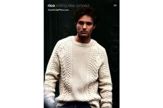 Rico Knitting Idea Compact 651 (Leaflet) Essentials Soft Merino Cable Sweater (Aran)
