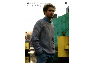 Rico Knitting Idea Compact 653 (Leaflet) Essentials Alpaca Blend Chunky  Raglan Sweater, Cardigan and Ribbed Scarf (Chunky)