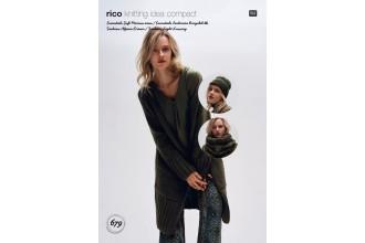 Rico Knitting Idea Compact 679 (Leaflet) Cardigan, Hat and Loop in Essentials Soft Merino Aran
