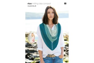 Rico Knitting Idea Compact 721 (Leaflet) Ladies Shawls in Essentials Cotton DK