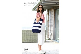 Rico Crochet Idea Compact 729 (Leaflet) Bag in Essentials Cotton DK