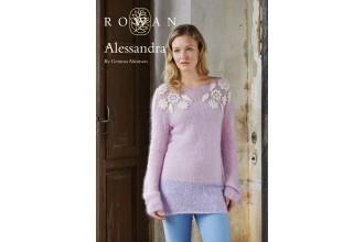 Rowan - Alessandra Jumper in Kidsilk Haze, Fine Lace (downloadable PDF)