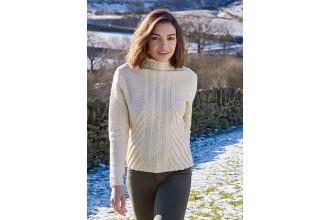 Rowan - Around Holme - Beautham Sweater in Valley Tweed (downloadable PDF)