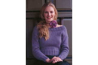 Rowan -  Charlotte Sccop Neck, and Polo Neck Sweater by Kim Hargreaves in Kid Classic (downloadable PDF)