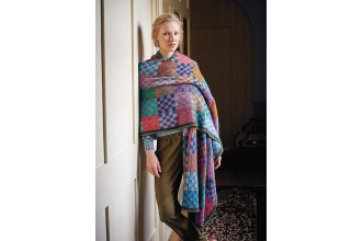 Rowan - Kaffe's Colours - Checkerboard Shawl or Bed Runner in Felted Tweed (downloadable PDF)