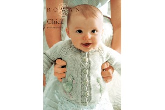 Rowan - Chick Baby Cardigan in Baby Merino Silk DK, Rowan Kidsilk Haze (downloadable PDF)