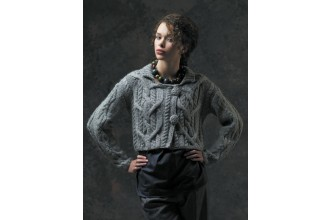 Rowan - The Cocoon Collection - Jeanie Wrapover Cardigan by Marie Wallin in Cocoon (downloadable PDF)