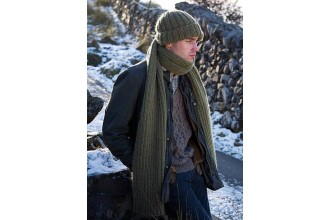 Rowan - Dalesmen - Whitaker Hat and Scarf by Martin Storey in Cocoon (downloadable PDF)
