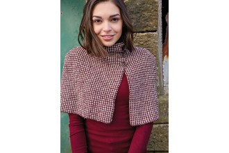 Rowan - Around Holme - Ewood Capelet in Cashmere Tweed (downloadable PDF)