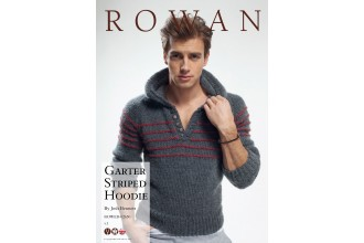 Rowan - Garter Striped Hoodie in Cocoon (downloadable PDF)