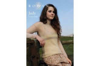 Rowan - Judy Jumper in Wool Cotton 4ply, Kidsilk Haze (downloadable PDF)