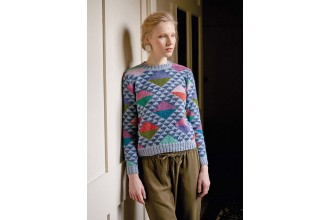 Rowan - Kaffe's Colours - Lady of The Lake Sweater in Felted Tweed (downloadable PDF)