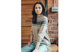 Rowan - Loves 5 - Ledyard Sweater in Kid Classic or Hemp Tweed (downloadable PDF)