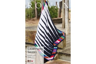 Rowan - Lightning Shawl in Pure Wool Superwash Worsted (downloadable PDF)