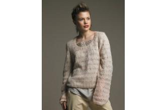 Rowan -  Lucetta Sweater by Sarah Hatton in Kidsilk Haze (downloadable PDF)