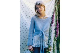 Rowan -  Lydia Sweater by Sarah Hatton in Kidsilk Haze (downloadable PDF)
