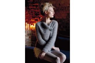 Rowan - Magazine No. 58 - Chilly Sweater by Vibe Ulrik in Kidsilk Haze (downloadable PDF)