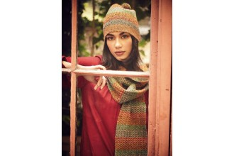Rowan - Magazine No. 58 - Jersey Hat & Scarf by Lisa Richardson in Felted Tweed DK (downloadable PDF)