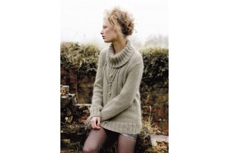 Rowan - Magazine No. 58 - Nippy Sweater by Amy Herzog in Cocoon (downloadable PDF)