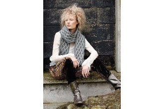 Rowan - Magazine No. 58 - Windy Scarf by Martin Storey in Pure Wool Superwash Worsted (downloadable PDF)