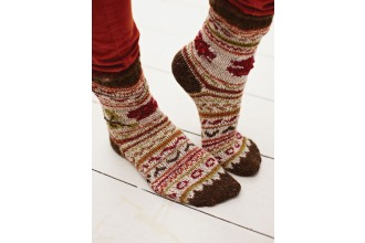 Rowan -  Pine Socks by Erika Knight in Felted Tweed DK (downloadable PDF)