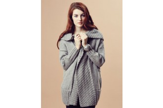 Rowan - Pure Wool Worsted Autumn - Ina Longline Cardigan by Marie Wallin in Pure Wool Superwash Worsted (downloadable PDF)