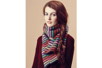 Rowan - Pure Wool Worsted Autumn - Lexy Scarf by Marie Wallin in Pure Wool Superwash Worsted (downloadable PDF)