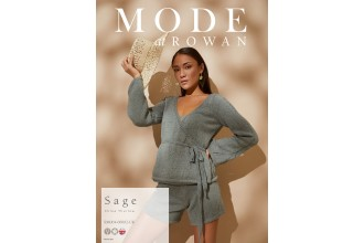 Rowan - MODE at Rowan Collection Four - Sage - Shorts by Chloe Thurlow in Cotton Cashmere (downloadable PDF)