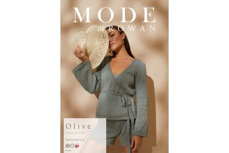 Rowan - MODE at Rowan Collection Four - Olive - Wrap Cardigan by Chloe Thurlow in Cotton Cashmere (downloadable PDF)