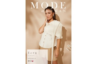 Rowan - MODE at Rowan Collection Four - Ecru - Wrap by Jen Geigley in Cotton Cashmere (downloadable PDF)