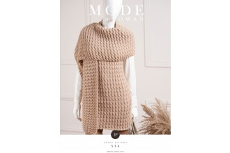 Rowan - MODE at Rowan Collection Five - Sia - Scarf by Erika Knight in Kid Classic (downloadable PDF)