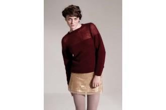 Rowan - Studio 22 - Sheer Sweater by Grace Melville in Kid Classic and Kidsilk Haze (downloadable PDF)