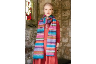 Rowan - Kaffe's Colours - Vibrant Striped Scarf in Felted Tweed (downloadable PDF)
