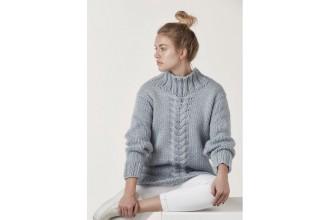 Rowan - Big Wool Knits - Alexa Cable Sweater in Big Wool (downloadable PDF)