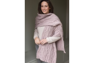 Rowan - Timeless Cocoon - Nevada Cabled Wrap (downloadable PDF)