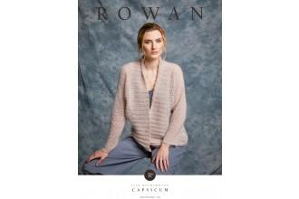 Rowan - Capsicum - Cardigan by Lisa Richardson in Fine Lace and Kidsilk Haze (downloadable PDF)