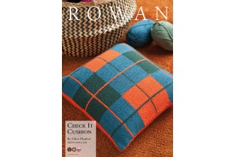 Rowan - Check It Cushion by Chloe Thurlow in Pure Wool Superwash Worsted (downloadable PDF)