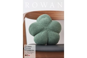 Rowan - Floral Fever Cushion by Chloe Thurlow in Pure Wool Superwash Worsted (downloadable PDF)