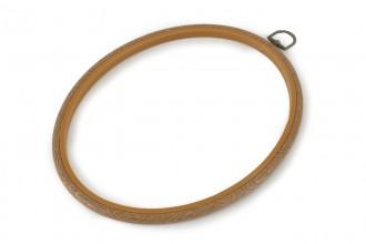 Siesta - Flexi Embroidery Hoop, Woodgrain, Oval, 20 x 25cm / 8 x 10in