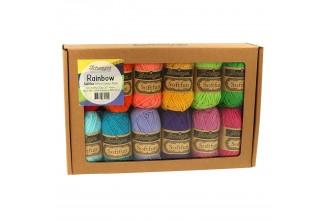 Scheepjes Softfun Colour Pack - Rainbow (12 x 20g balls)
