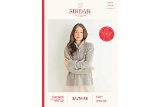 Sirdar 10179 Women's Hoodie in Saltaire Aran (leaflet)