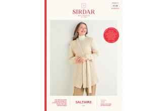 Sirdar 10180 Women's Longline Cardigan in Saltaire Aran (leaflet)