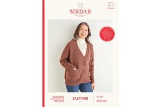 Sirdar 10181 Women's V-Neck Cardigan in Saltaire Aran (leaflet)