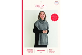 Sirdar 10182 Women's Roll Neck Tunic in Saltaire Aran (leaflet)