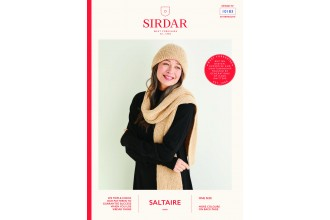 Sirdar 10183 Women's Hat and Scarf in Saltaire Aran (leaflet)