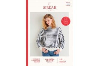 Sirdar 10201 Boat Neck Breton Sweater in Country Classic DK (leaflet)