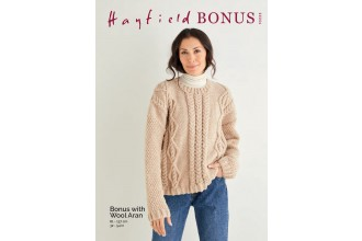 Sirdar 10223 Diamond and Arrowhead Textured Sweater in Hayfield Bonus Aran with Wool (leaflet)