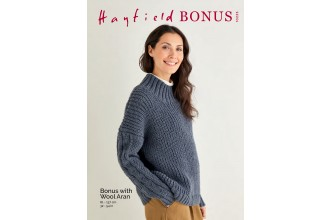 Sirdar 10225 Fisherman's Rib and Cable Sweater in Hayfield Bonus Aran with Wool (leaflet)